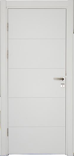 бяла интериорна врата VD80